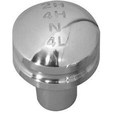 Rampage 46009 Billet Shift Knob Head w/ Transfer Case 4WD Shift Pattern Silver