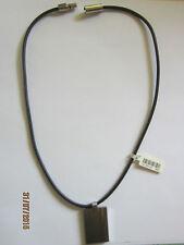 Halskette Kautschuck und Stahl Anhänger ca. 45 cm