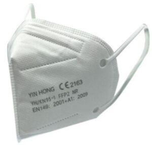 5x FFP2 WEISS Mundschutz Maske Gr. S für Frauen Jugendl geeignet CE 2163 10x14cm