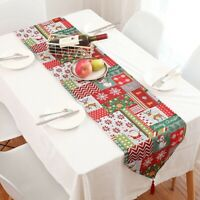 Christmas High Quality Tablecloth Table Runner Wedding Decor Party Supply D