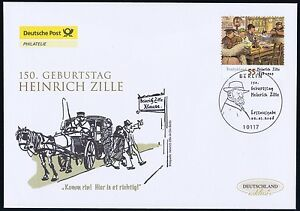 Frg 2008: Heinrich Zille ! post-Fdc No 2640 With Berlin Affixed! 1A 1705