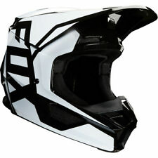 2020 Fox Racing YOUTH V1 Prix MX Motocross Off Road Helmet Black White