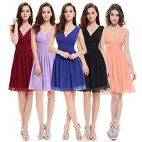 Ever-Pretty Short V-Neck Bridesmaid Dresses Sleeveless Evening Prom Gowns 03989