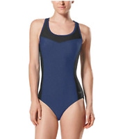 SALE NEW Speedo Women's High Neck One Piece Swimsuit VARIETY OF SIZE AND COLOR