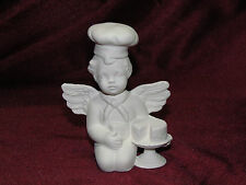 New listing Ceramic Bisque Cherub with a Chef Hat and Cake Ready to Paint U Paint Angel