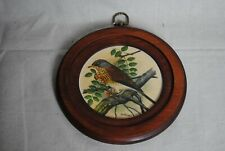 Bird Print by Ph Gonner in round wooden frame