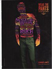 DOCKERS 2010 khakis pants magazine ad print art clipping rock tatoo retro green