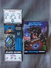 1995 Carolina Panthers vs Atlanta Falcons FULL ticket - 12/17 - first Season