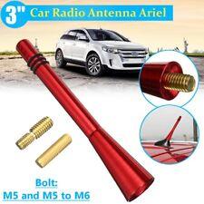 Universal Car Short Stubby Antenna Aerial AM/FM Radio Mast+2 Styles Screw Red !