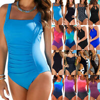 New Women Push Up Monokini One Piece Swimwear Bikini Beachwear Swimsuit PlusSize