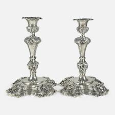 Pair of Irish Cast Sterling Silver Candlesticks, Royal Irish Silver Ltd, 1969