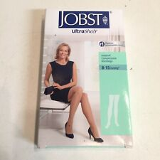Jobst Ultrasheer Silky Beige Compression Stockings Thigh CT 8-15mmHg Medium