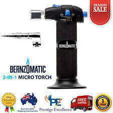 BERNZOMATIC 3-IN-1 MICRO TORCH Soldering Tips Hot Blower Hobby and Household Use