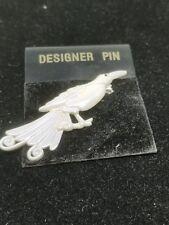 Pretty Bird Pin in a White Opalescent Color
