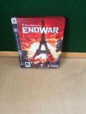 ENDWAR - TOM CLANCY'S - STEELBOOK EDITION - SONY PLAYSTATION 3 PS3 GAME - VGC