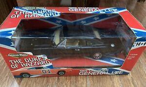 General Lee Black Dukes Of Hazzard 69 Dodge Charger 1:18 Scale Die cast ERTL