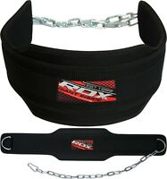 """RDX Dipping Belt 6"""" Weight Lifting Dip Chain Gym Training Fitness Bodybuilding"""