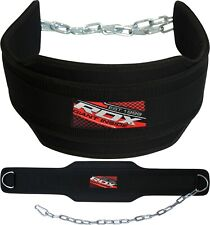 RDX Dipping Weight Lifting Belt Steel Chain Back Support Fitness Gym Workout