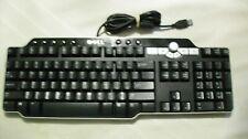 DELL SK-8135 USB Enhanced Multimedia 104-Key Keyboard with knob USB hub Grade A