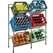 Étagère en acier pour 6 caisses meuble de rangement de boissons bouteilles