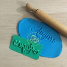 Timbro Auguri Buon Compleanno Embossing Formine Biscotti Cookie Cutter