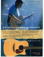 2002 TAKAMINE EAN15C Acoustic Guitar GLENN FRY of the Eagles Vtg Print Ad