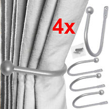 4x Large Stylish Curtain Hold Back Metal Tie Tassel Arm Hook Loop U Shape Holder