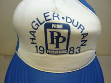 1983 Marvin Hagler Roberto Duran Boxing Prime Productions Foam Trucker Hat RARE