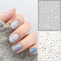 White Snowflake Nail Stickers Manicure Self Adhesive Decals Christmas Nail Art