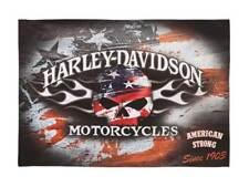 Harley-Davidson Flaming Skull Americana Estate Flag, 36 x 52 inches 17S4906