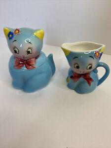 Vintage Norcrest Blue Cat - CT-6 Sugar Bowl