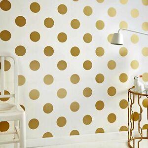 Polka Dots/Spots Wallpaper | Gold & White