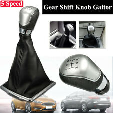 5 Speed Gear Shift Knob Stick Lever Gaitor Gaiter Boot Cover For Ford Focus New