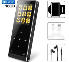 MP3 Music Player Digital Bluetooth FM Radio 16GB HiFi Audio Stereo Sound Black