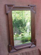 Très beau ancien miroir laqué marron - Epoque et style Napoléon III