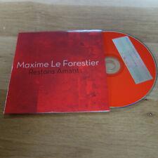 MAXIME LE FORESTIER - JULIEN CLERC - RESTONS AMANTS - PROMO  CD !!!