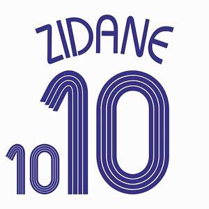 Zidane 10. France Away football shirt 2006 - 2008 FLEX NAMESET NAME SET