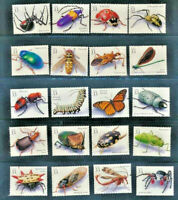 Insects and Spiders 3351 a-t Mint NH 1999 Set of 20 Singles $30.00 Retail Value
