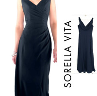 Stunning Sorella Vita #8576 Size 12 Black Bridesmaid Long Gown NWT NEW