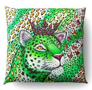 Kissen Dekorativ Für Sofa Futter Gedruckt Vorn Retro Über Leopard Reißverschluss
