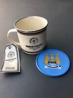 Man City Retro Mug and Coaster Set - Ideal Football Gift