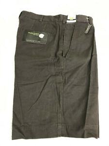 IZOD Golf Shorts Men's Size 34 Brown Glove & Tee Pockets 100% Cotton NEW