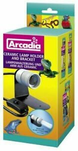 Ceramic light fitting + bracket + switch ADCH arcadia compact ES. Reptile / Bird