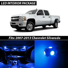 2007-2013 Chevrolet Silverado Blue Interior LED Lights Package Kit