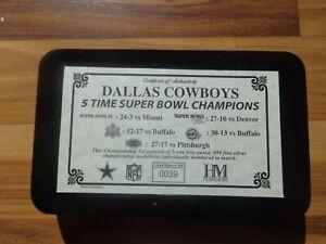 Dallas Cowboys 5 Time Super Bowl Champions .999 Silver Coins Set