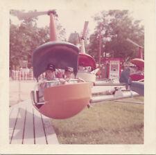 Vintage 1960 Amusement Park/ Carnival Helicopter Ride * Original Real Photo