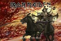 """IRON MAIDEN POSTER """"DEATH ON THE ROAD"""""""
