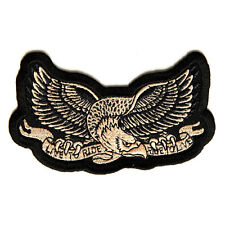 Embroidered Live to Ride Eagle Ride To Live Iron on Sew on Biker Patch Badge