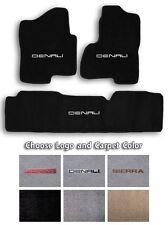 2001-2016 GMC Sierra Denali 3pc Carpet Floor Mat Set - Choose Color & Logo