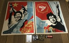 Obey Giant Revolution In Our Time + Long Live the People Set Signed Number Print